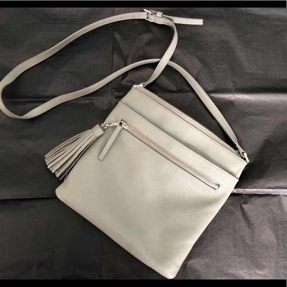 6fbc5e9501 Halogen Handbags - Halogen Tasseled leather crossbody bag